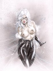 TOPLESS BlackCat caught in some Web by ebas