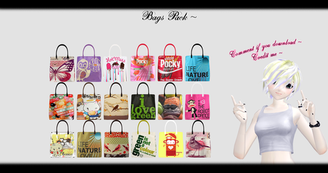 [MMD] Bags Pack DL ~ by o-DSV-o