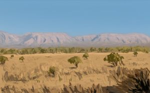Study 01 African Landscape by Freezeron