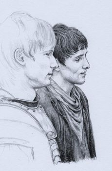Merlin and Arthur...... WIP by chickenpopcorn