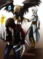 Alex and Altair and eagle by resave
