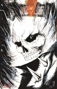 Ghost Rider sketch cover by SpaciousInterior