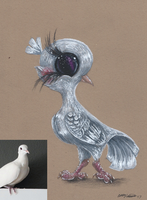 Quinn the Dove by Ducks-with-Crayons