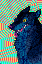 eyestrain wolf by irlnya