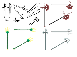 SBURB Weapons by Blizzriel