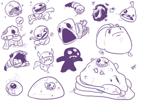 The Binding of Isaac doodles by efrejok