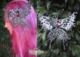 Silver Butterfly Hair Clip by Firefly-Path