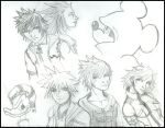 KH2 Doodles by Fanglicious