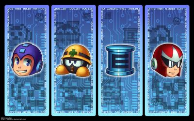 Megaman Bookmark Set by zanazac
