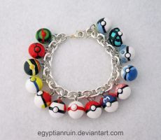 Pokeball Bracelet 1 by egyptianruin