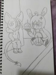 Rune and Mariah in Lively City (Birthday Picture) by Macaron-Princess