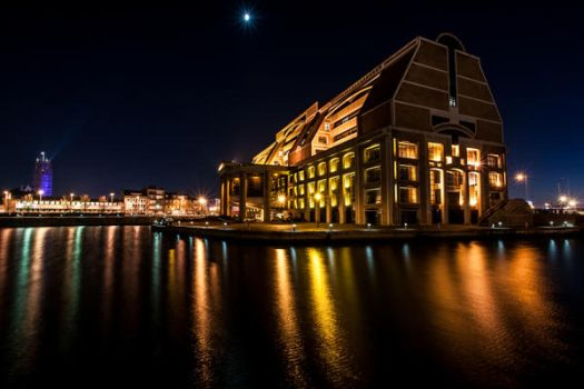 In golden colors  - Dunkerque France by Laurent-Dubus