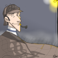 Collab Piece- Mr. Holmes 8D by Draw-ist