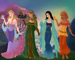 Goddess-Maker-Azaleas-Dolls - The Four Elements by Aranel125
