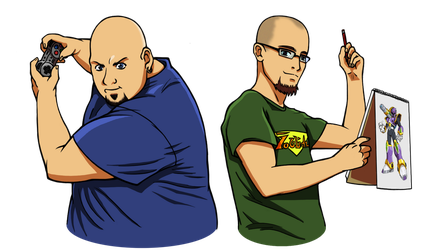 Two Bald Nerds by Elden-rucidor