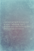 Not Afraid, Billy The Kid Quote Variant II by romancer