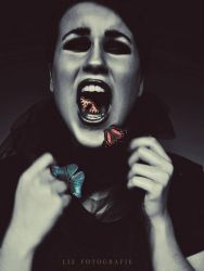 The butterfly scream by LizAlasca