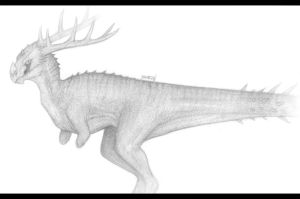 |School Sketch 01| Moranosaurus by Brzozan