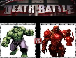 Request #153 Hulk vs Atrocitus by LukeAlanBundesen