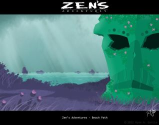 Zen's Adventures 2012 painting 1 by R3dF0x