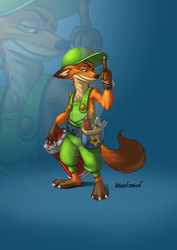 A fox mechanic by ArtOfRebornDesign