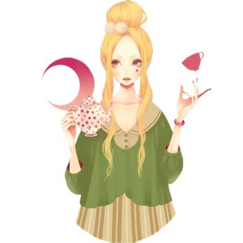 Girl of the tea party Render by charlessdo