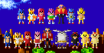 Sonic the Hedgehog Characters 8 Bit by LustriousCharming