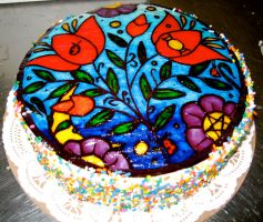 Garden cake: piping gel by BrightlyWound455
