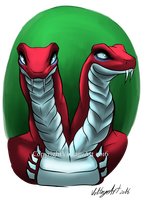(3/5) Fangpyre Genreal Fangtom by Voltage-Art