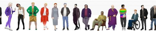 ASOIAF characters modern!AU height and costumes by Michelsminne
