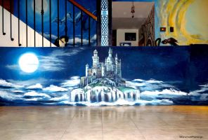 Castle on the clouds by WormholePaintings