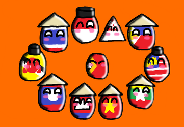 Southeast Asia squad (countryballs) by SprixieFan12345
