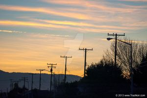Poles at sunset stock image 001 by NoirArt