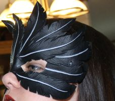 Leather Raven Feather Mask by Lady-Cass