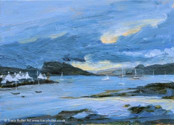 Looking to Loch Carron by tracybutlerart