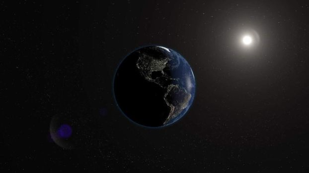 Earth in Space by kiltic