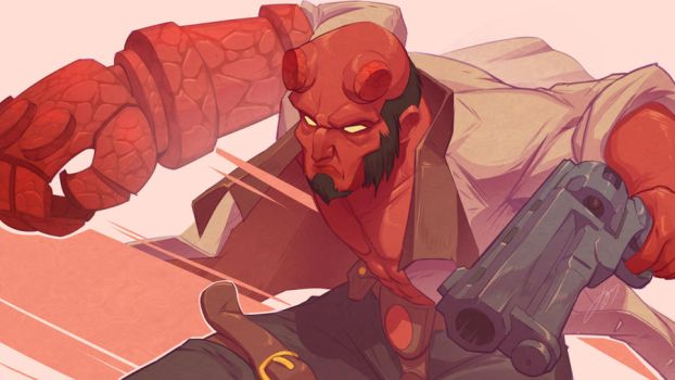 Hellboy by JustineArt