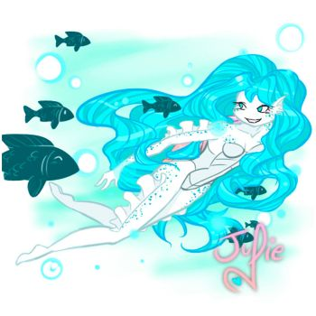 Swimming Coral by juliefofisss