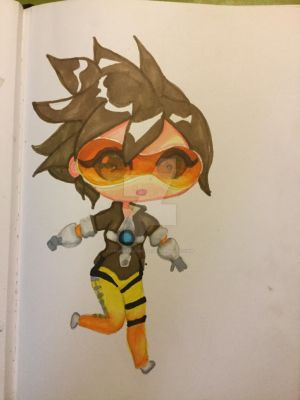 Tracer chibi by CrossPadCastle
