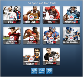 EA Sports 08 Icon Pack by SkullBoarder
