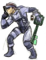 Heartblade Solid Snake by jameson9101322