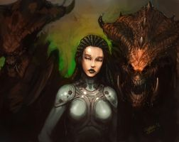 Queen of Blades by zoppy