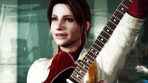 Claire Redfield Rocking on Guitar 1 by Big-Al-Son86