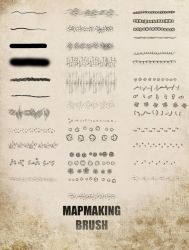 Photoshop Map Brush V.2 by gogots