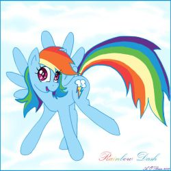 Rainbow Dash by weaselwoman