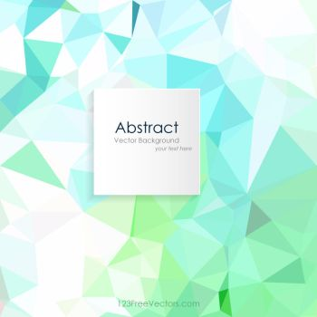 Turquoise Green Low Poly Background Free Vector by 123freevectors