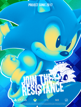 Sonic Resistance: Classic Poster by NathanLaurindo