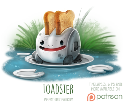 Daily Paint 1524. Toadster by Cryptid-Creations