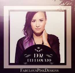 Demi Lovato Vintage 1992 by FabulousPinkDesignsW