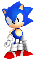 Sonic Mega Drive Pose by BlueParadoxYT
